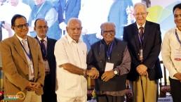 Chief Minister Shri B S Yediurappa with Prof CNR Rao and other dignitaries at Bengaluru India Nano 2020