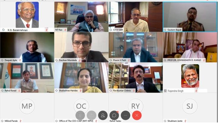 Inaugural session MIT-WPU International Virtual Conference