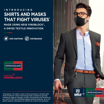 Peter England in Collaboration with HeiQ Switzerland Launches Innovative Antiviral Collection -1