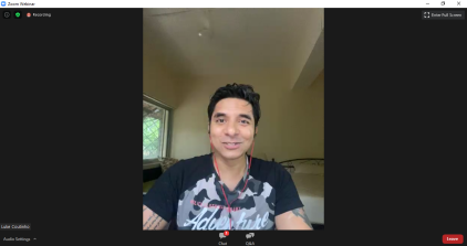 Pics 001- Holistic lifestyle coach Luke Coutinho during the virtual launch of his digital book, The Magic Immunity Pill Lifestyle on the Kitaab platform of Prabha Khaitan Foundation