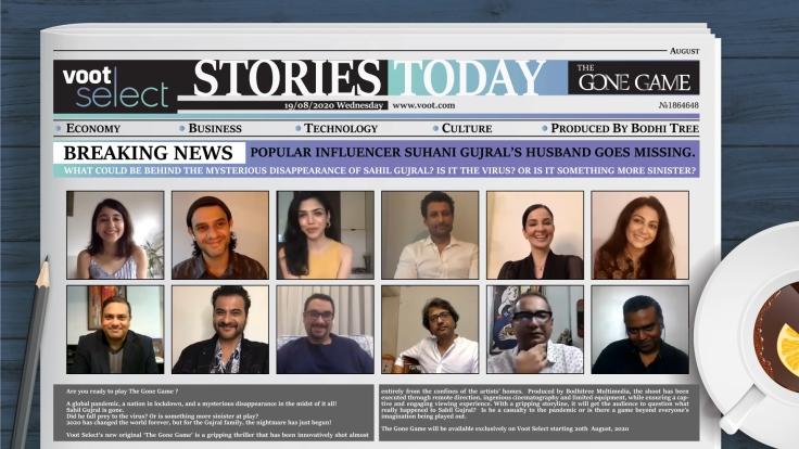 L-R Shweta Tripathi Sharma, Arjun Mathur, Shriya Pilgaonkar, Indraneil Sengupta, Rukhsar Rehman, Lubna Salim, Gourav Rakshit, COO, Viacom18 Digital Ventures, Sanjay Kapoor, Ferzad Palia, Head – Yout