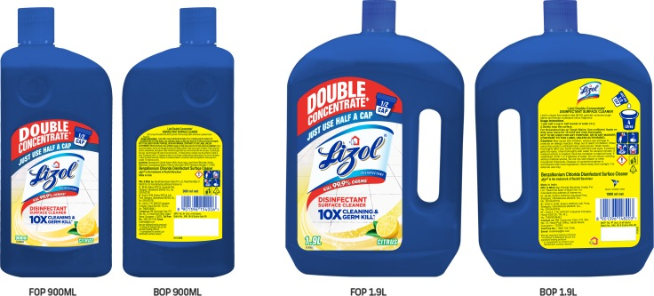 Lizol Double Concentrate 900ml & 1900ml pack